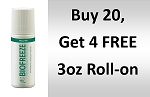 #173 BioFreeze® Professional 3 oz Roll On Promo buy 20 get 4 Free!