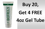 #174 Biofreeze® PROFESSIONAL  4oz Tube Promo Buy 20 get 4 FREE!