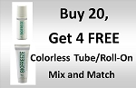 #32 BioFreeze® Professional Tubes and Roll-On COLORLESS Promo buy 20 get 4 Free! Mix and Match