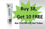 #321-2 Biofreeze® PROFESSIONAL  4oz COLORLESS Tube Promo Buy 38 get 10 FREE!  WOW!