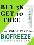 #321-2 Biofreeze® PROFESSIONAL  4oz COLORLESS Tube Promo Buy 38 get 10 FREE!