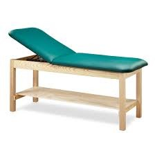 Used Clinton Adjustable Back Treatment Table w/Shelf