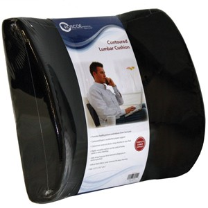 #PC7121 Contoured Lumbar Seat Back Cushion w/ Elastic Strap As Low As $14.80