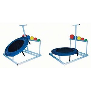 #625 USED Rebounder w/Ball Rack  (balls and blue spring cover not included) As Low as  $125.00