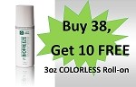 #320-2 BioFreeze®  3 oz COLORLESS Roll On Promo buy 38 get 10 Free!    *LIMIT 2  Buy 38 Get 10 Free Special  PER Clinic/Practice